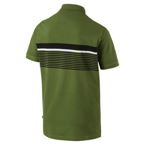 Thumbnail 5 of ESS+ Striped Men's Polo, Garden Green, medium