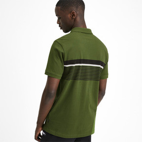 Thumbnail 3 of ESS+ Striped Men's Polo, Garden Green, medium