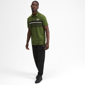 Thumbnail 4 of ESS+ Striped Men's Polo, Garden Green, medium