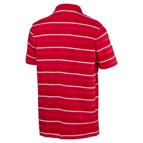 Thumbnail 5 of ESS+ Striped J Men's Polo, High Risk Red, medium
