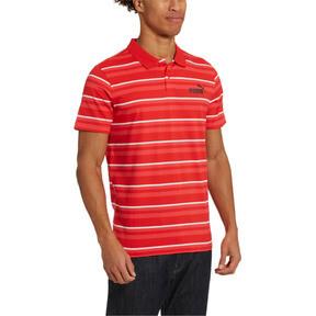 Thumbnail 2 of ESS+ Striped J Men's Polo, High Risk Red, medium