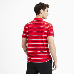 Thumbnail 3 of ESS+ Striped J Men's Polo, High Risk Red, medium