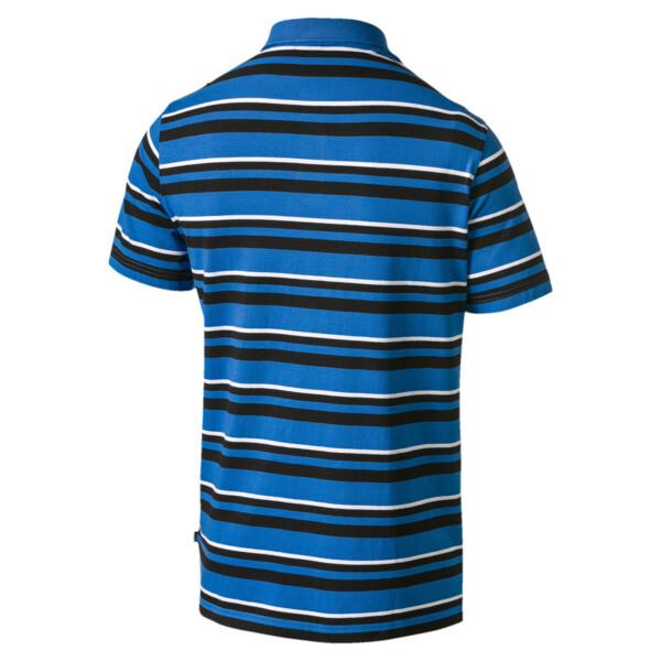 ESS+ Striped J Men's Polo, Indigo Bunting, large
