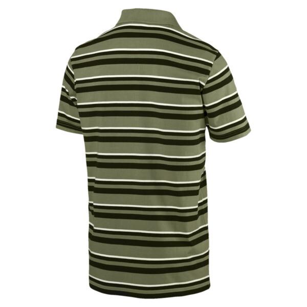 ESS+ Striped J Men's Polo, Olivine, large