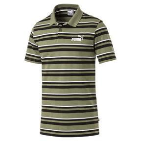 Thumbnail 1 of ESS+ Striped J Men's Polo, Olivine, medium