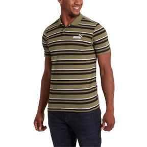 Thumbnail 2 of ESS+ Striped J Men's Polo, Olivine, medium