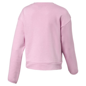 Thumbnail 2 of Alpha Crew Neck Girls' Pullover, Pale Pink, medium
