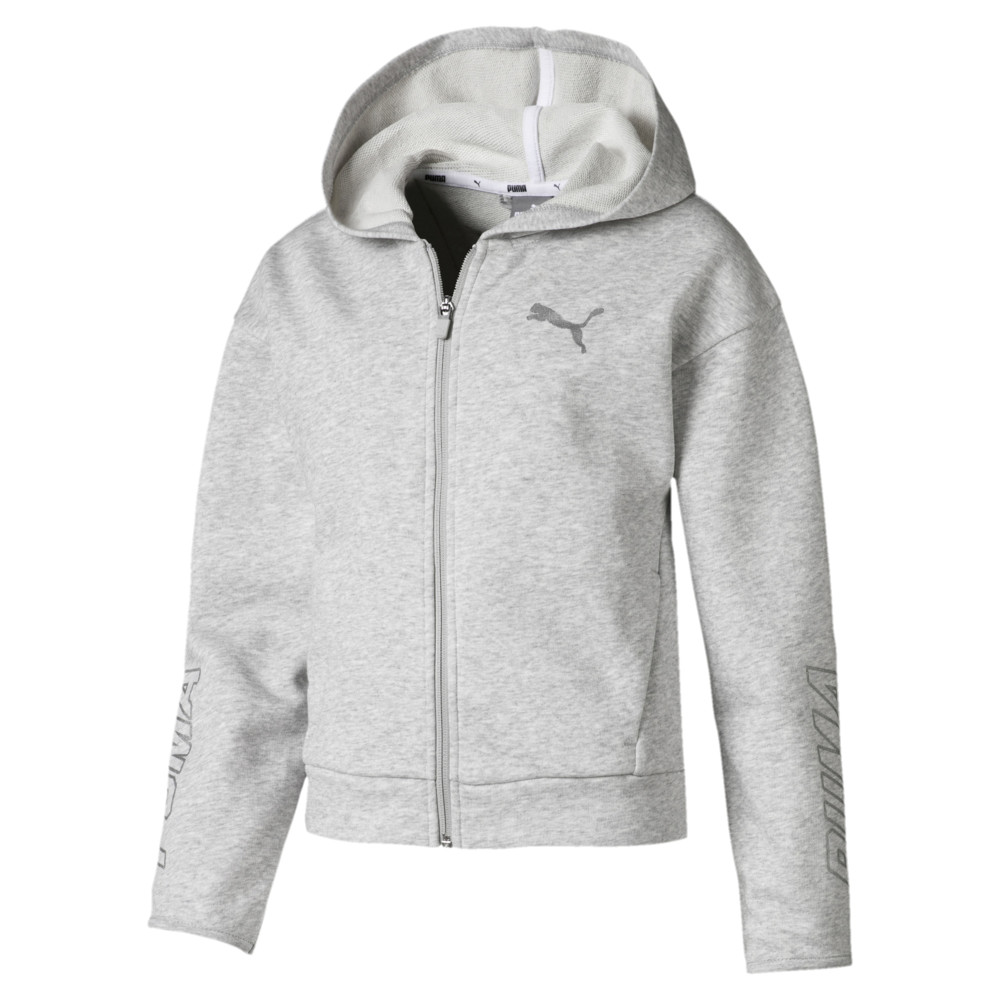 Image PUMA Alpha Hooded Girls' Sweat Jacket #1
