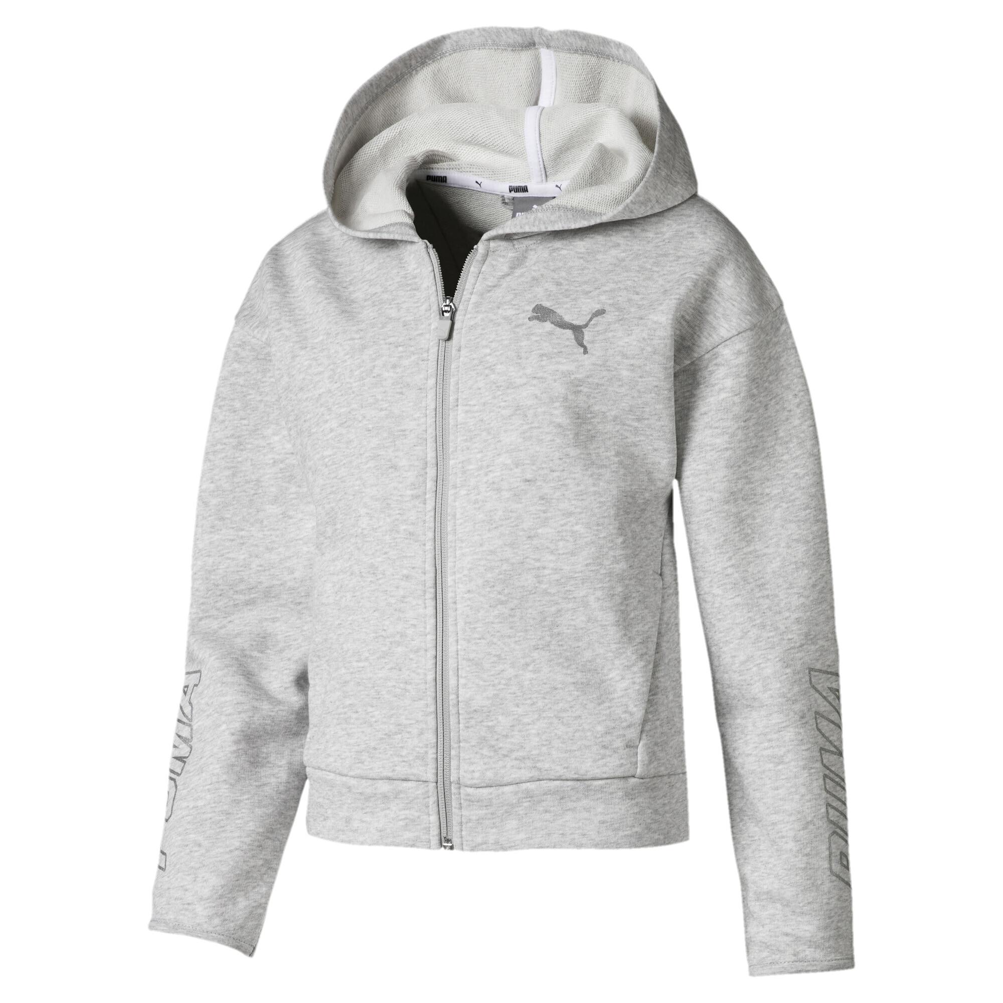 Image Puma Alpha Hooded Girls' Sweat Jacket #1