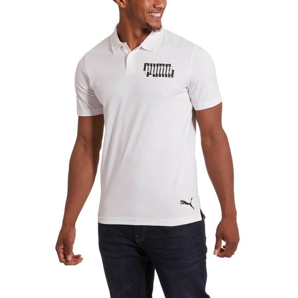 Modern Sports Men's Polo, Puma White, large