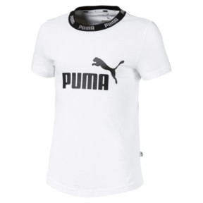 Thumbnail 1 of T-Shirt Amplified pour fille, Puma White, medium