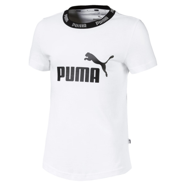 T-Shirt Amplified pour fille, Puma White, large