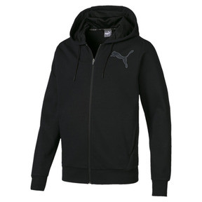 Thumbnail 1 of Active P48 Modern Sports Zip-Up Hooded Men's Sweat Jacket, Puma Black, medium