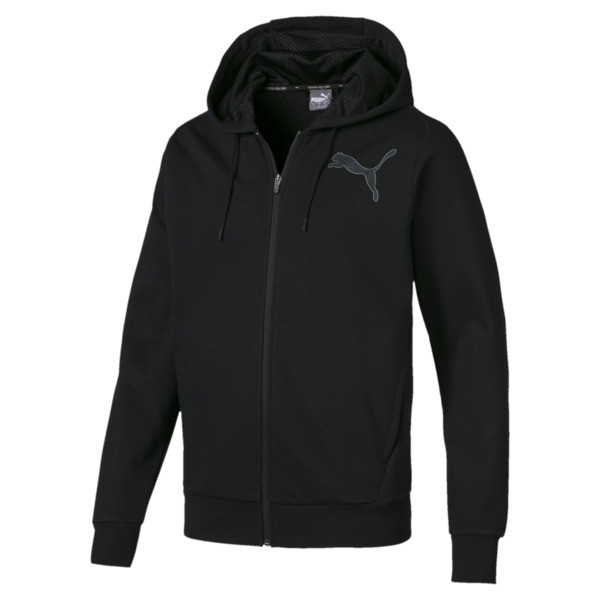 Active P48 Modern Sports Zip-Up Hooded Men's Sweat Jacket, Puma Black, large