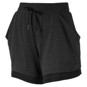 Thumbnail 4 of Soft Sports Women's Drapey Shorts, Puma Black Heather, medium