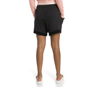 Thumbnail 2 of Soft Sports Women's Drapey Shorts, Puma Black Heather, medium