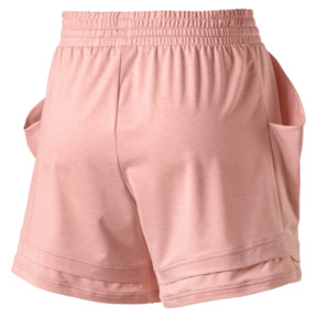 Thumbnail 5 of Soft Sports Women's Drapey Shorts, Peach Bud Heather, medium