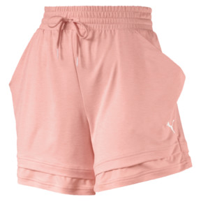 Thumbnail 4 of Soft Sports Women's Drapey Shorts, Peach Bud Heather, medium