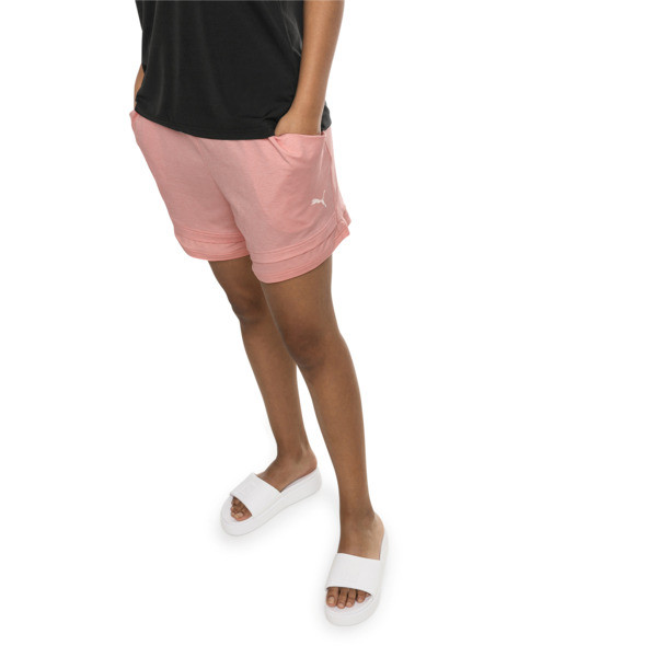 Soft Sports Women's Drapey Shorts, Peach Bud Heather, large