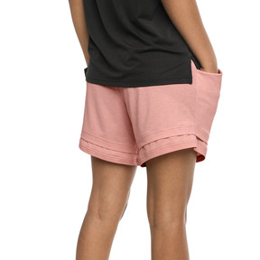 Thumbnail 2 of Soft Sports Women's Drapey Shorts, Peach Bud Heather, medium