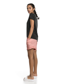 Thumbnail 3 of Soft Sports Women's Drapey Shorts, Peach Bud Heather, medium