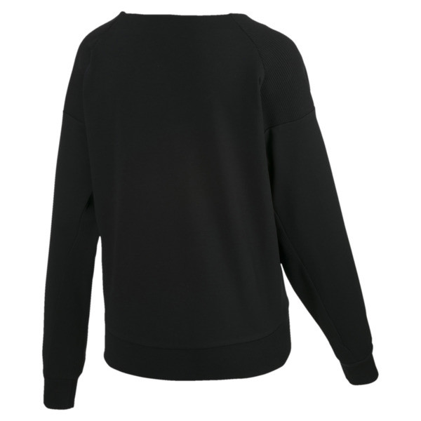 Fusion Damen Sweatshirt, Cotton Black, large