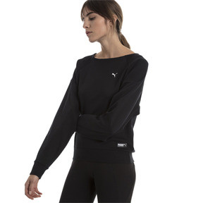 Thumbnail 1 of Fusion Damen Sweatshirt, Cotton Black, medium