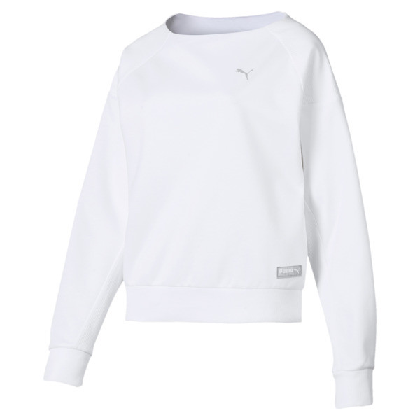 Fusion Women's Sweater, Puma White, large