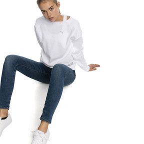 Thumbnail 3 of Fusion Women's Sweater, Puma White, medium