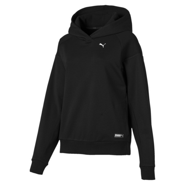 Fusion Women's Hoodie, Cotton Black, large