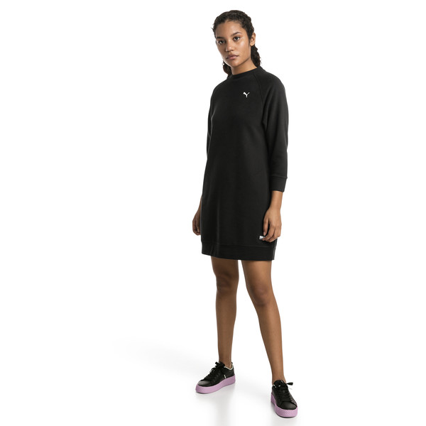 Athletics Damen Sweatkleid, Puma Black, large