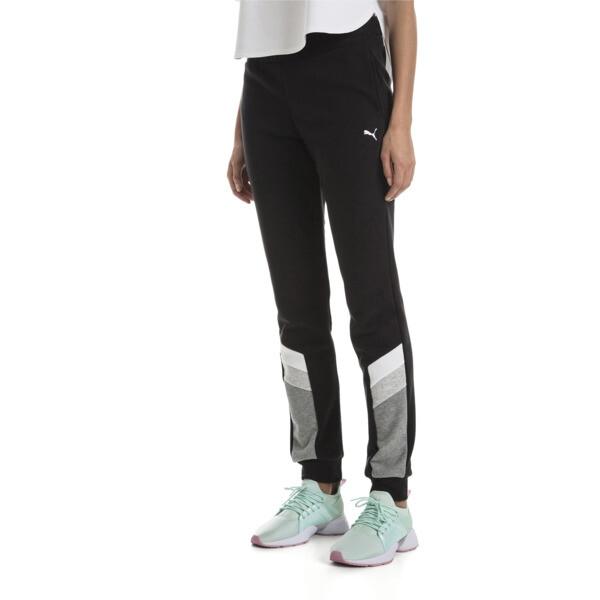 Athletics Women's Sweatpants, Cotton Black, large