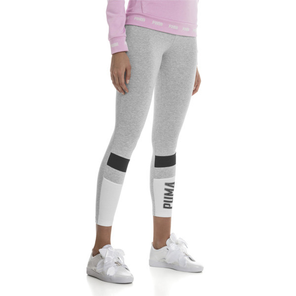 Athletics Graphic Women's Leggings, Light Gray Heather, large