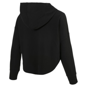 Thumbnail 5 of Summer Light Cropped Women's Hoodie, Cotton Black, medium