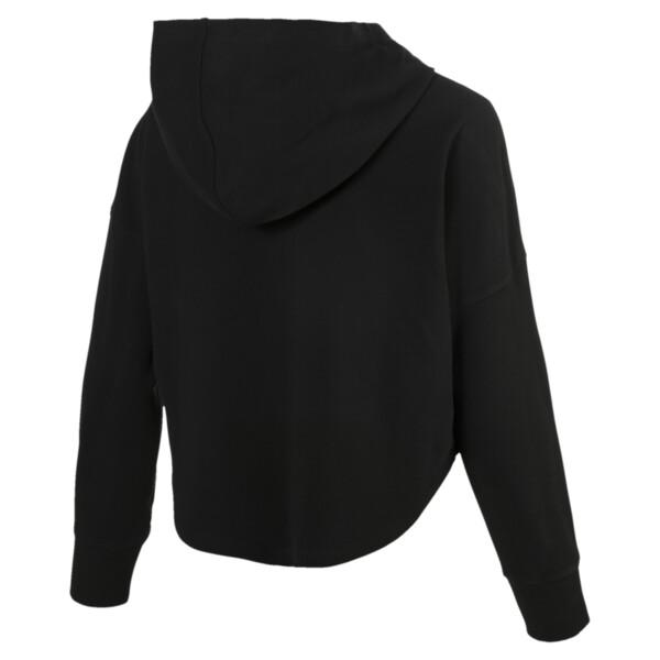 Lichte cropped zomerhoodie voor vrouwen, Cotton Black, large