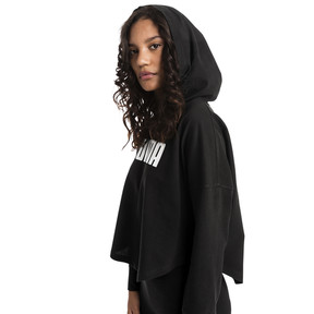 Thumbnail 1 of Summer Light Cropped Women's Hoodie, Cotton Black, medium