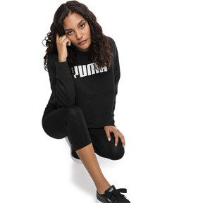 Thumbnail 3 of Summer Light Cropped Women's Hoodie, Cotton Black, medium