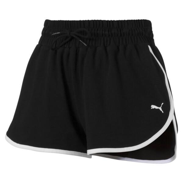 Summer Women's Shorts, Cotton Black, large