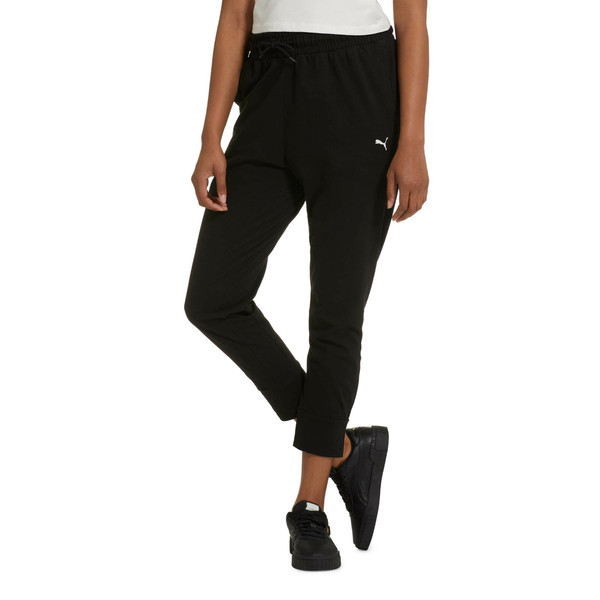 Women's Summer Pants, Cotton Black, large