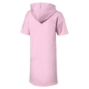 Thumbnail 2 van Alpha sweater-jurk met capuchon voor meisjes, Bleekroze, medium