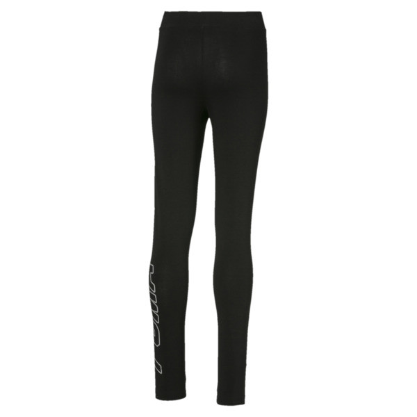Alpha legging voor meisjes, Cotton Black, large