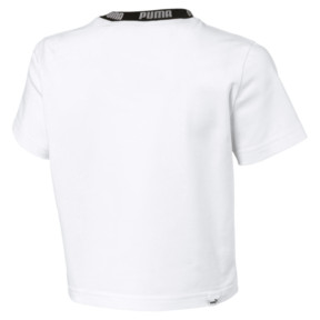 Thumbnail 3 of Amplified Women's Cropped Tee, Puma White, medium