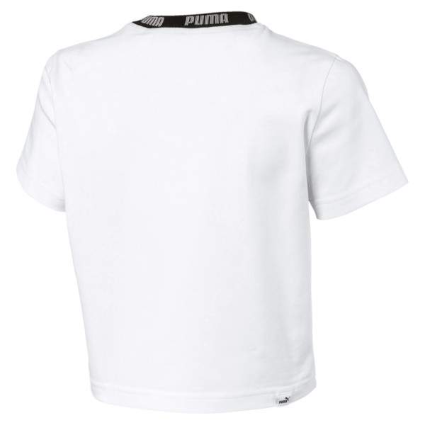 Amplified Women's Cropped Tee, Puma White, large