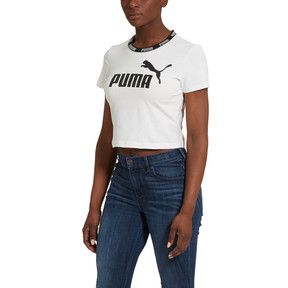 Thumbnail 1 of Amplified Women's Cropped Tee, Puma White, medium
