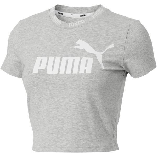 c396f6e2a64 Amplified Women's Cropped Tee   Light Gray Heather   PUMA T-Shirts ...