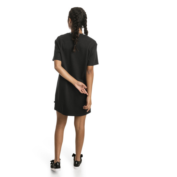Amplified Damen T-Shirt-Kleid, Cotton Black, large