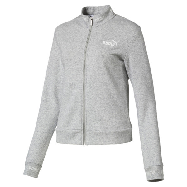 Amplified Track Jacket, Light Gray Heather, large