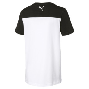 Thumbnail 2 of Alpha Trend Boys' Tee, Puma Black, medium
