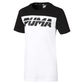Thumbnail 1 of Alpha Trend Boys' Tee, Puma Black, medium