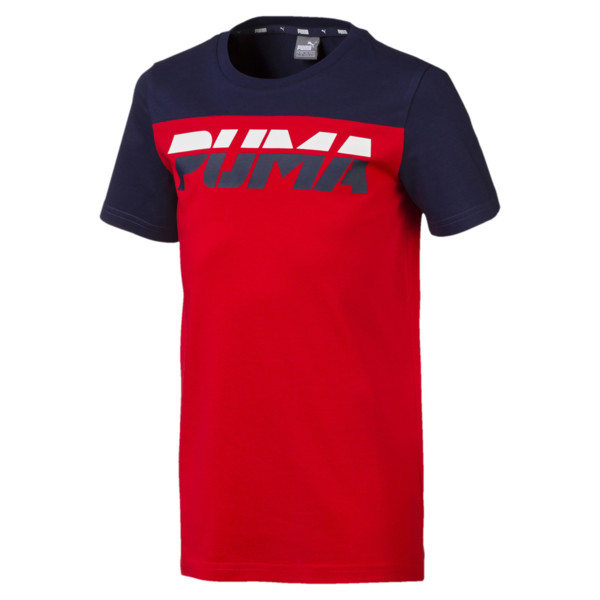 Alpha Trend Boys' Tee, High Risk Red, large